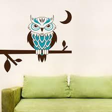 Owl Wall Decor by Owl Wall Photo In Owl Wall Decals Home Decor Ideas