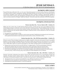 Sample Bank Resume by Example Bank Business Specialist Resume Free Sample