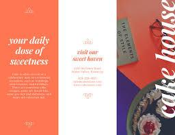 fancy brochure templates orange fancy cake business trifold brochure templates by canva