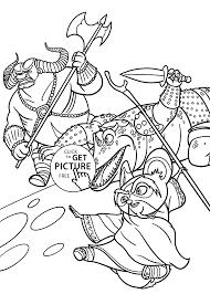 shifu kung fu panda coloring pages kids printable free