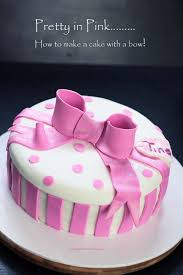 how to make a cake for a girl pretty ribbon bow cake it my kitchen stories