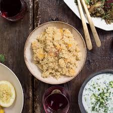 quinoa thanksgiving recipes quinoa pilaf with dried apricots recipe whitney tingle danielle