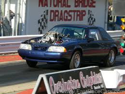 blower for mustang drag race cars mustangs picture of blue mustang drag car with