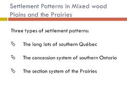 Interior Plains Population Settlement Patterns Ppt Download