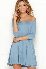 light blue shift dress chic light blue dress off the shoulder dress shift dress 34 00