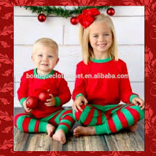 cotton baby striped pajamas family suit green striped