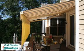 Drop Down Awnings Elite Motorized Patio Shades Retractable Awnings