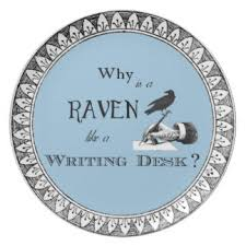 Raven And The Writing Desk Why Is A Raven Like Writing Desk Gifts On Zazzle