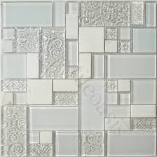 Glass And Stone Backsplash Tile by Buy Ice White Unique Shapes Glass And Stone Glossy U0026 Frosted Tile