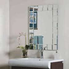 bathroom decorative mirror decorative mirror with geometric accent frame white sink arc