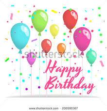 happy birthday card balloon confetti stock vector 192289352
