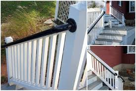 Banister Rails For Stairs Easy To Install Outdoor Stair Railing Simplified Building