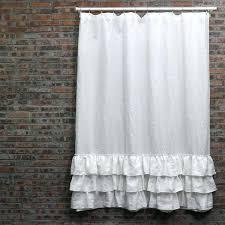 Black Linen Curtains Black Fabric Shower Curtain Uk Echelon Home Washed Belgian Linen