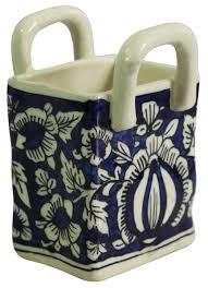 wholesale home decor items home décor items u2013 handmade ceramic basket u2013 blue u0026 white u2013 floral