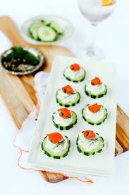 cucumber canapes smoked salmon cucumber canapés evite