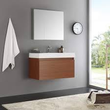 36 inch medicine cabinet fresca mezzo 36 teak wall hung modern bathroom vanity w medicine