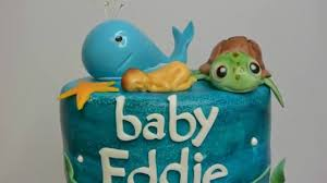 under the sea baby shower cake part 1 youtube
