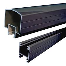 peak aluminum railing 4 ft aluminum hand and base rail in black