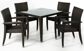 black patio table glass top rattan picnic table patio sets by all things pvc wicker patio tables