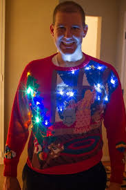 Ugly Christmas Sweater With Lights Tales Of The Flowers Ugly Christmas Sweater