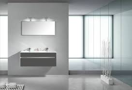 Grey Vanity Unit Motiv 1200mm Wall Mounted Grey Gloss Double Basin Vanity Unit