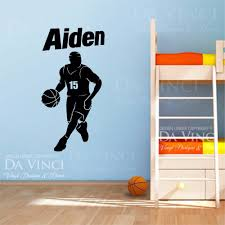 compare prices boy wall stickers large online shopping buy low basketball player vinyl wall decal personalized custom boy name sport art sticker bedroom home