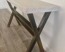 X Base Console Table X Table Base Etsy
