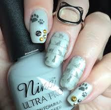 nail art tutorial u2013 reverse stamping cat design bundle monster