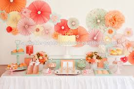 hanging paper fans new yiwu lace doilies paper rosettes pinwheel backdrop hanging