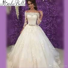 wedding dresses for women robe arabe vintage lace gown three quarter