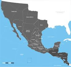 map usa la map usa y mexico major tourist attractions maps