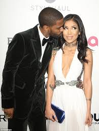 what is big sean s hairstyle big sean cozies up to jhene aiko at elton s oscar party daily
