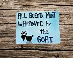 Goat Home Decor Wood Goat Sign Etsy