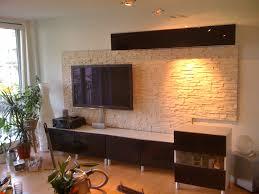 steinwand wohnzimmer tv innenarchitektur ehrfürchtiges wohnzimmer steinwand steinwand