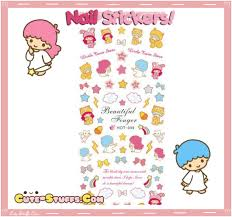 rare kawaii nail stickers little twin stars advanced design