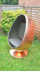retro aviator egg pod chair copper ebay
