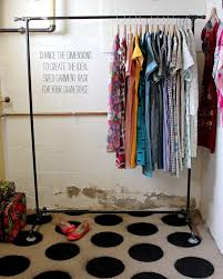 diy garment rack we have similar ones screwed into the wall in