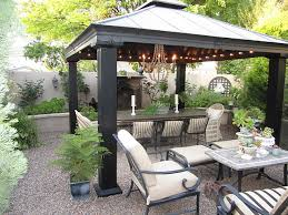 Gazebo For Patio The Gravel Patio The Metal Gazebo The Lights Pergolas