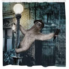 slothin u0027 in the rain shower curtain u2013 sharp shirter