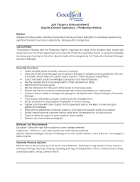 quality control resume sample quality control resume in