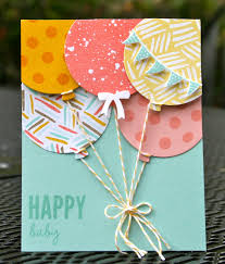 attaching balloon strings krystal u0027s cards stampin u0027 up celebrate