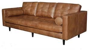 Leather Modern Sofa Leather Mid Century Sofa Facil Furniture
