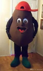 character coffee bean mascot costume fancy party dress halloween