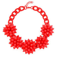 red necklace statement images Spiky blossom bib chunky red statement necklace by shamelessly jpg