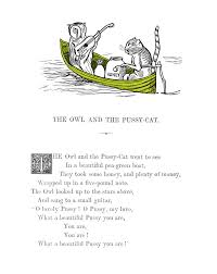the owl and the pussycat by edward lear british library prints