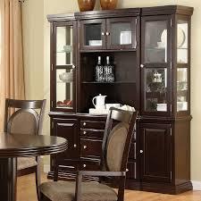Buffet With Hutch Furniture Shop Furniture Of America Evelyn Dark Walnut Rectangular Buffet