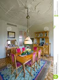 Vintage Dining Room Furniture Interior View Of Vintage Dining Room Table Of Casa Mila Or La
