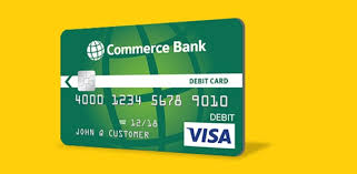 debit cards cards commerce bank
