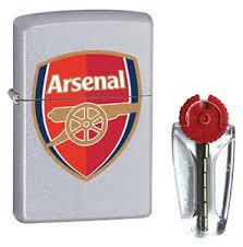 arsenal zippo lighter official arsenal zippo lighter satin chrome free flints p p ebay