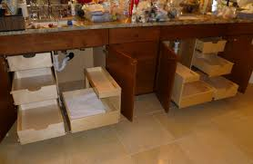 pull out shelves for bathroom vanities